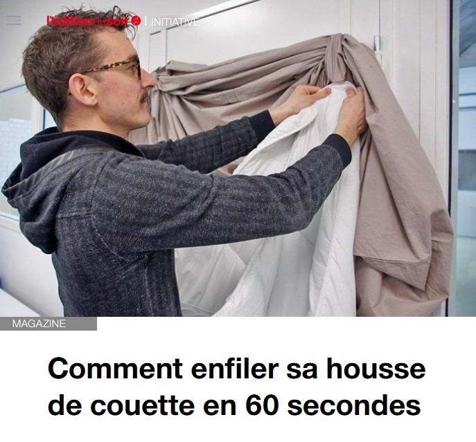 Photo de l'article de l'Edition du Soir sur Hopoli